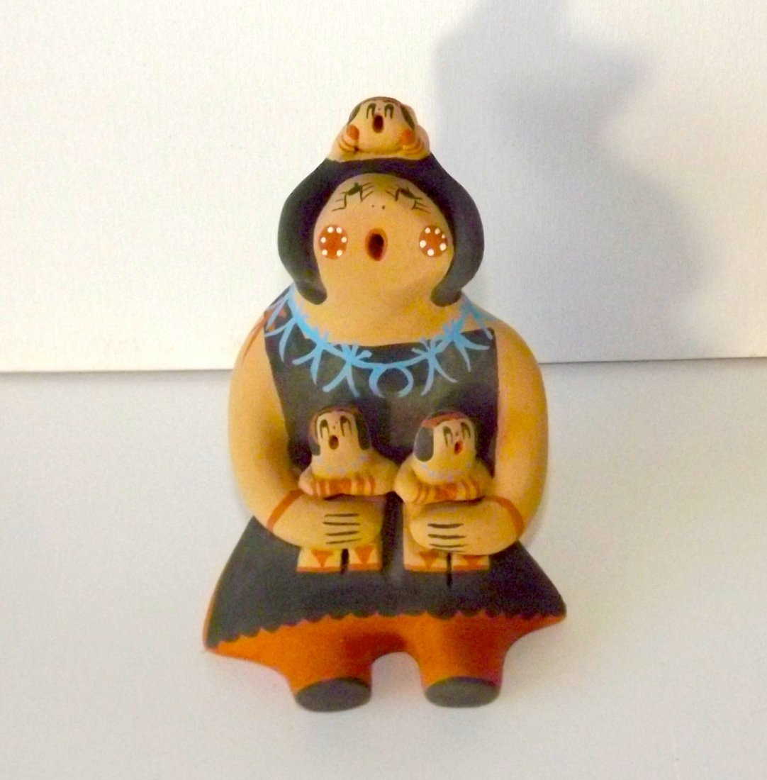 Native American JEMEZ Story Teller Figurine