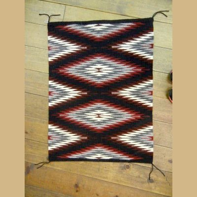 Authentic NAVAJO Tightly Woven Wool Textile/Rug