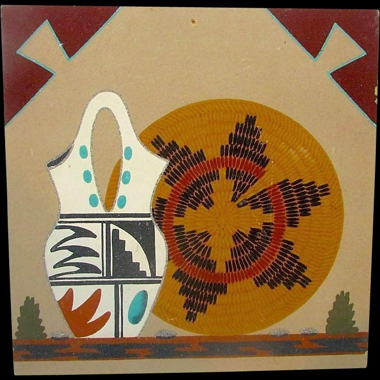 Native American Navajo Sand Painting