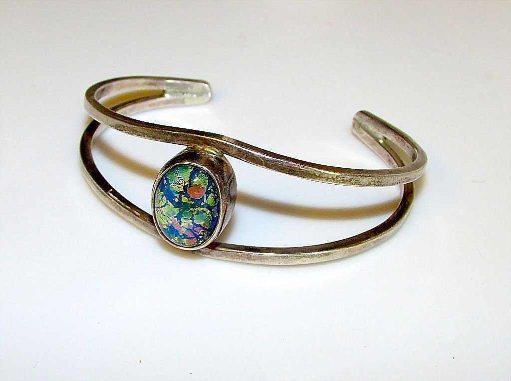 Taxco Mexican Sterling Silver Cuff Bracelet