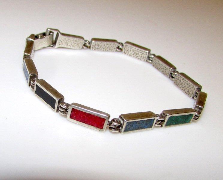 Vintage Taxco Mexican 925 Sterling Bracelet