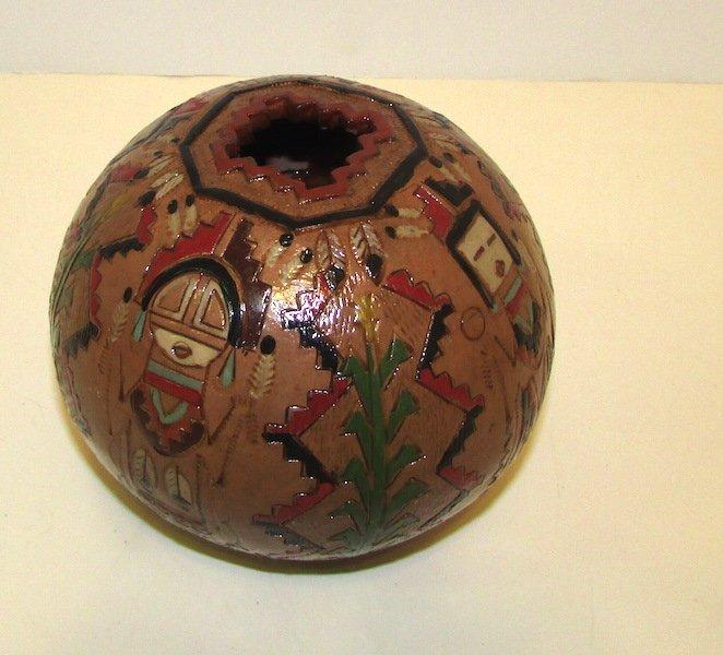 Native American Navajo Yei Pottery by K. White