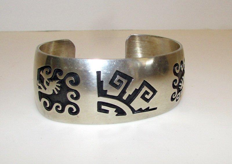 Native American Sterling Hopi Kokopelli Bracelet