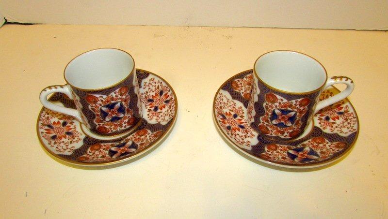 Vintage Japanese Imari 2 Cups and Saucers