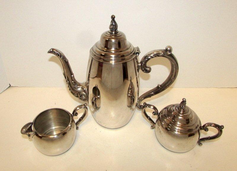 Vintage William Rogers Silver Plated Tea Set