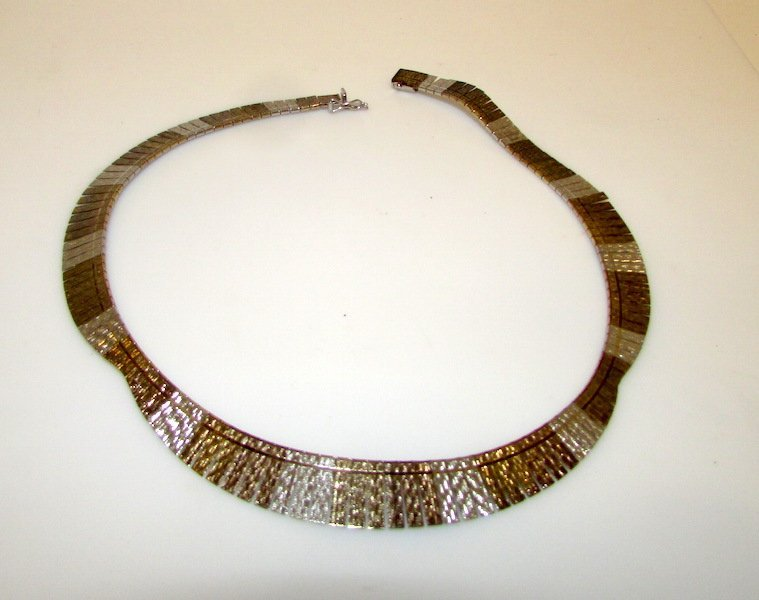 Vintage Sterling Silver Italian Collar Necklace
