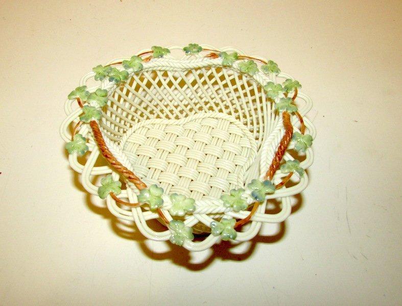 Small Irish Belleek Basket
