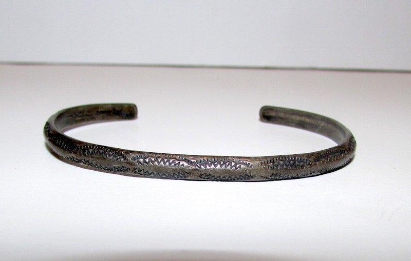 Old Pawn Navajo Sterling Cuff Bracelet