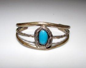 Old Pawn Sterling Turuqoise Navajo Bracelet