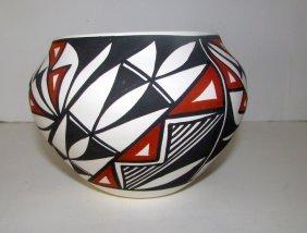 Acoma Pueblo Eye Dazzler Plolychrome Pottery Olla