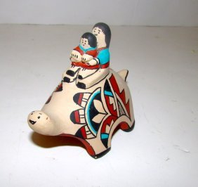 Jemez Pueblo Pottery F Toledo Turtle Storyteller
