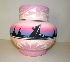 Vintage Navajo Pottery Signed
