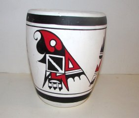 Vintage Mata Ortiz Polychrome Pottery By R. Galvan