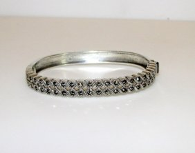 Sterling Silver 925 Judith Jack Marcasites Bangle