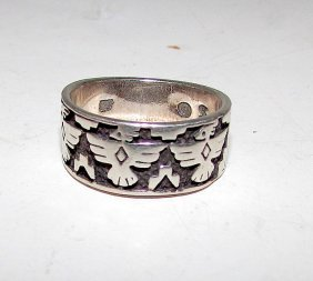 Shube's Manufacturing Abq Sterling Thunderbird Ring 6.5
