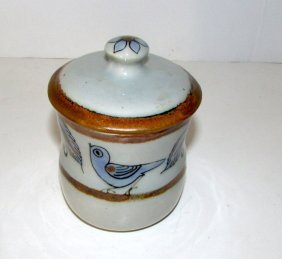 Vintage Mexican Tonala Collector Pottery Lidded Bowl