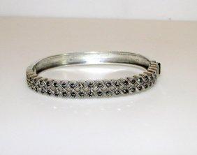 Sterling Silver 925 Judith Jack Marcasites Bangle