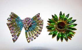 Vintage Rhinestone Fugural Brooches Jewelry Lot