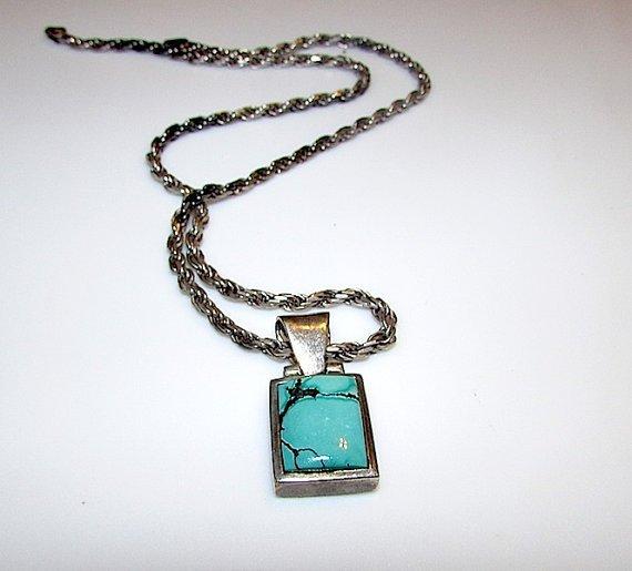 Vintage Sterling Silver 925 Filigree Turquoise