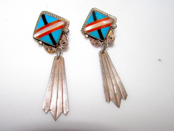 Southwestern Trading Post Sterling Silver 925 Channel
