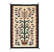 Southwestern Tree of Life Wool Pictorial Rug