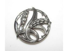Danecraft Sterling Silver Wheat Design Brooch. Rare