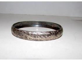 Vintage Sterling Silver 925 Bangle Bracelet with Hand