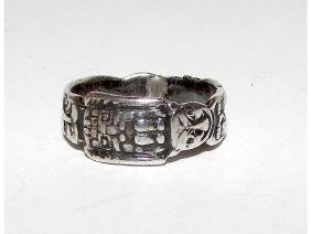 Sterling Silver 925 Tribal South American Small Finger