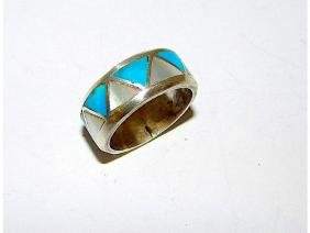 Native American Zuni Old Pawn Sterling Silver Turquoise