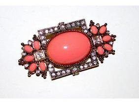 Elizabeth Taylor For Avon Coral Sea Collection Brooch