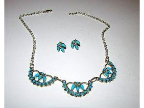 Vintage Native American Zuni Sterling Silver Turquoise