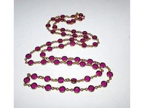 Vintage SWAROVSKI Purple Faceted Crystals Bezel Set