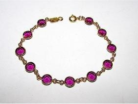 Vintage Swarovski Faceted Purple Crystal Designer