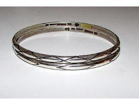 Taxco Eagle Mark Mexican Sterling Silver 925 Bangle
