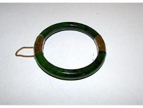 Green Nephrite Jade Jadeite Bangle Bracelet Spinach