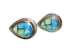 Native American Navajo Sterling Silver Opal Fire Opal