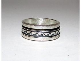 Native American Navajo Sterling Silver 925 Band Ring