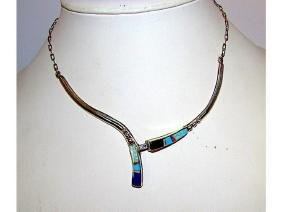 Native American Old Pawn Zuni Sterling Silver Turquoise