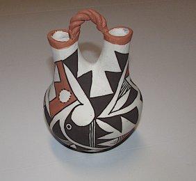 Vintage ACOMA PUEBLO Wedding Vase Pottery