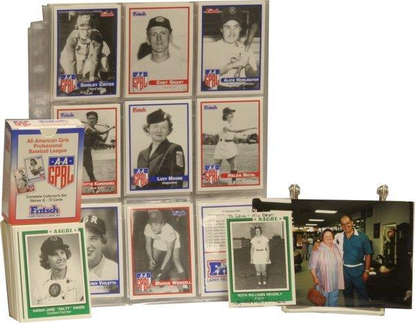10: Lot of Womens' Baseball Memoriabilia.
