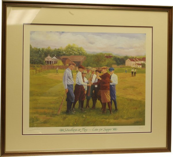 22: Schoolboys at Play Late for Supper Print.