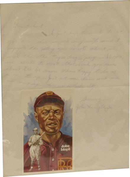78: John Lloyd Autographed Baseball Card and Letter.