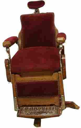 Oak Barber Chair.