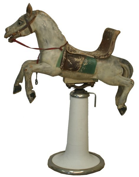 320: Carousel Horse Child's Barber Chair.