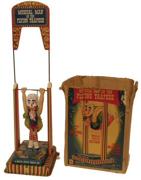 9: Mechanical Clown on Trapeze.
