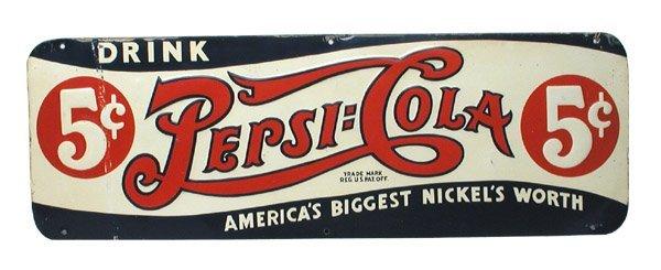 3: Pepsi Tin Sign.