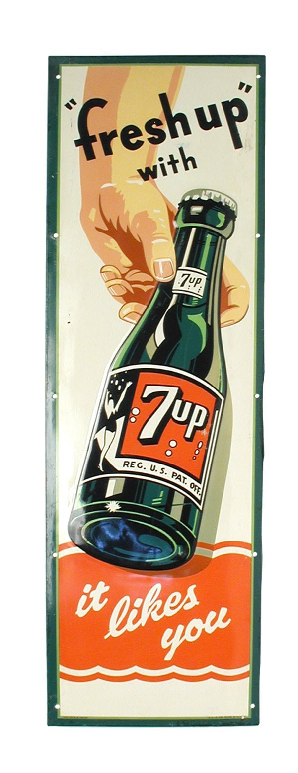 7: 7-Up Sign.
