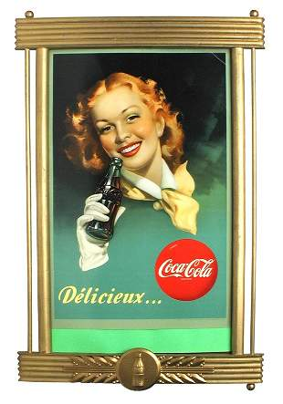French Coca Cola Sign.