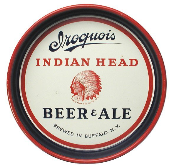 18: Iroquois Beer Serving Tray.