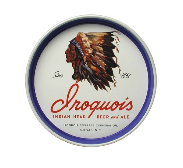 22: Iroquois Beer Serving Tray.